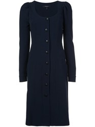 Derek Lam Button Down Dress Blue