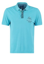 Tom Tailor Fitted Polo Shirt Coastal Blue