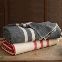 Striped Wool Blanket Branch Sustainable Design For Living