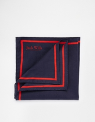 Jack Wills Blackthorne Pocket Square Blue