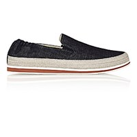 Prada Men's Denim Espadrille Sneakers Navy