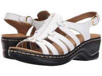 Clarks Lexi Marigold Q White Leather Women's Sandals