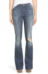 Junior Women's On Twelfth 'Taylor' Flare Girlfriend Jeans Klamath Falls Medium Tint