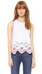 Endless Rose Embroidered Blouse White