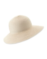Eric Javits Squishee Iv Woven Round Dome Sun Hat Ivory Antique