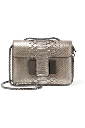 Tom Ford Sienna Mini Python Shoulder Bag Silver