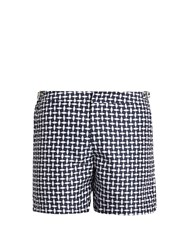 Orlebar Brown Bulldog Huron Mid Length Swim Shorts Navy Multi