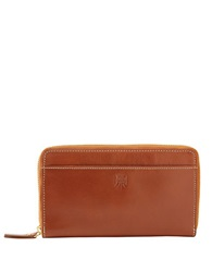 Tusk Leather Zip Around Wallet Tan