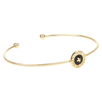 Ted Baker Teya Ultrafine Button Enamel Cuff Gold Black