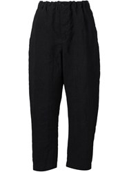 Forme D'expression Cropped Trousers Black