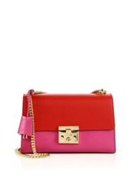 Gucci Padlock Leather Shoulder Bag Rosette Hibiscus