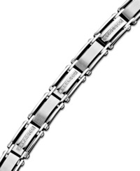 Macy's Men's Diamond Bracelet In Stainless Steel 1 2 Ct. T.W.