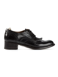 Officine Creative Fringed Brogues Black