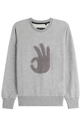 Rag And Bone Rag And Bone Cotton Sweatshirt With Applique Grey