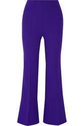 Roland Mouret Connor Wool Crepe Flared Pants Purple