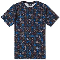 Paul Smith Muted Paisley Tee Black