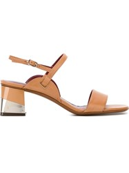 L'autre Chose Sling Back Sandals Nude And Neutrals