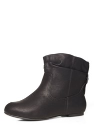 Evans Extra Wide Fit Black Ankle Boot