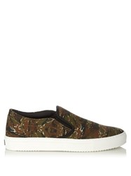 Marcelo Burlon Pilar Camouflage Slip On Trainers