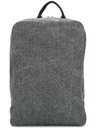 A.P.C. Rectangular Canvas Backpack Grey