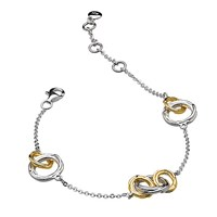 Kit Heath 18Ct Gold Plated Sterling Silver Cocoon Link Chain Bracelet Gold Silver