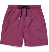 Vilebrequin Moorea Gingham Mid Length Swim Shorts Red