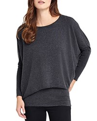 Phase Eight Charley Double Layer Sweater Charcoal