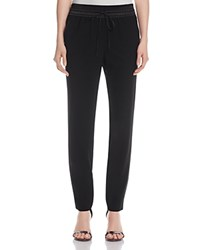 Lafayette 148 New York Satin Trim Track Pants Black