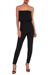 Missguided Women's Strapless Jumpsuit