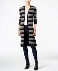 Styleandco. Style Co. Ribbed Duster Cardigan Only At Macy's Deep Black Combo