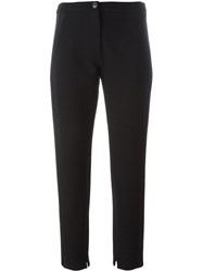 Giorgio Armani Cropped Side Band Trousers Black