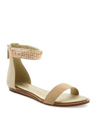 Nanette Lepore Marianne Beaded Ankle Strap Sandals Dusty Pink