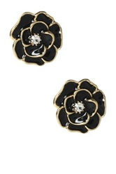 Amrita Singh Camellia Enamel Stud Earrings No Color