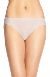 Halogen Women's No Show Mesh Thong Grey Gull