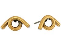 Marc Jacobs Twisted Single Wrap Studs Earrings Antique Gold