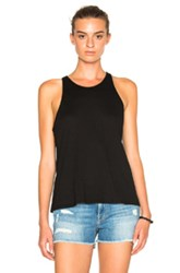 Enza Costa Sheath Tank Top In Black