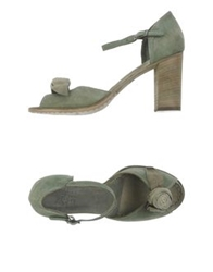 Pantofola D'oro High Heeled Sandals Military Green
