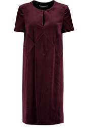 Pringle Paneled Velvet Dress Red