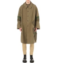 Mhi Upcycled Cavalry Trench Coat Olive