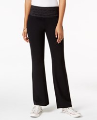 Styleandco. Style Co. Printed Waist Yoga Pants Only At Macy's Deep Black