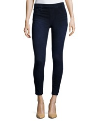 Spanx Cropped Denim Knit Leggings Dark Indigo Women's