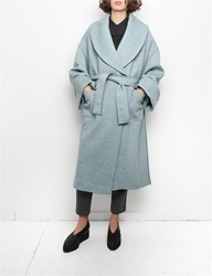 Creatures Of Comfort Coco Coat Double Knit Blue