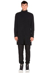 D. Gnak D By D Turtle Neck Long Pullover Black