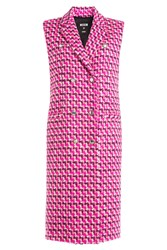 Msgm Fleece Wool Sleeveless Coat Pink