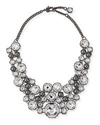 Crystal Octagon Link Necklace D.Gnmt Crys. Ston St. John Collection