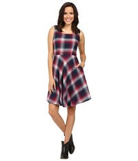Stetson Pomegrante Plaid Sleeveless Dress Red Women's Dress