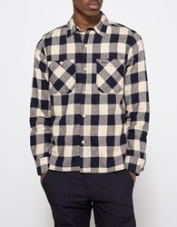 Rogue Territory Hunter Shirt Tan Navy Plaid
