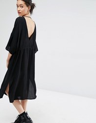 Just Female Essie Dress With Plunge Back Black