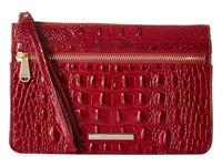 Brahmin Winnie Wristlet Carmine Red Clutch Handbags Brown