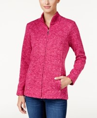 Karen Scott Marled Knit Jacket Only At Macy's Raspberry